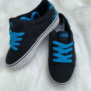 Vans Bishop Black Blue Checkard Youth Size 13